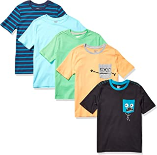 Amazon Brand - Spotted Zebra Boy's Toddler & Kid's 5-Pack Short-Sleeve T-Shirts