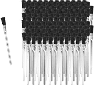 Fulton Acid Glue Applicator Brushes Made with Horse Hair Bristles | Tin Metal Tubular Ferrule Handle | Apply Grease Glue Oil Flux and Chemicals | Ideal for Home, School, and Workshop (144 Brushes)