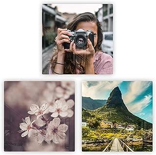 Anvevo Custom Metal Photo Tiles, Aluminum Photo Tiles, DIY Gallery Wall, Photo Collage, Set of 3