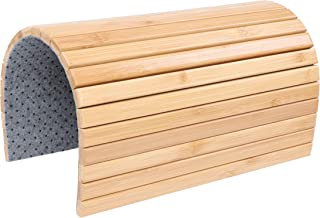 7Penn Natural Bamboo Sofa Armrest - Anti-Slip Couch Coaster, Drink Holder Armrest Table for Squared Edge Armrests