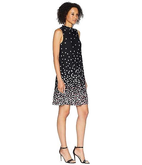 American Rose Brenna Sleeveless Printed Dress Black Very Cheap gBOvES19V