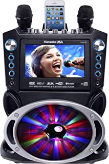 "Karaoke USA GF842 DVD/CDG/MP3G Karaoke Machine with 7"" TFT Color Screen, Record,.."