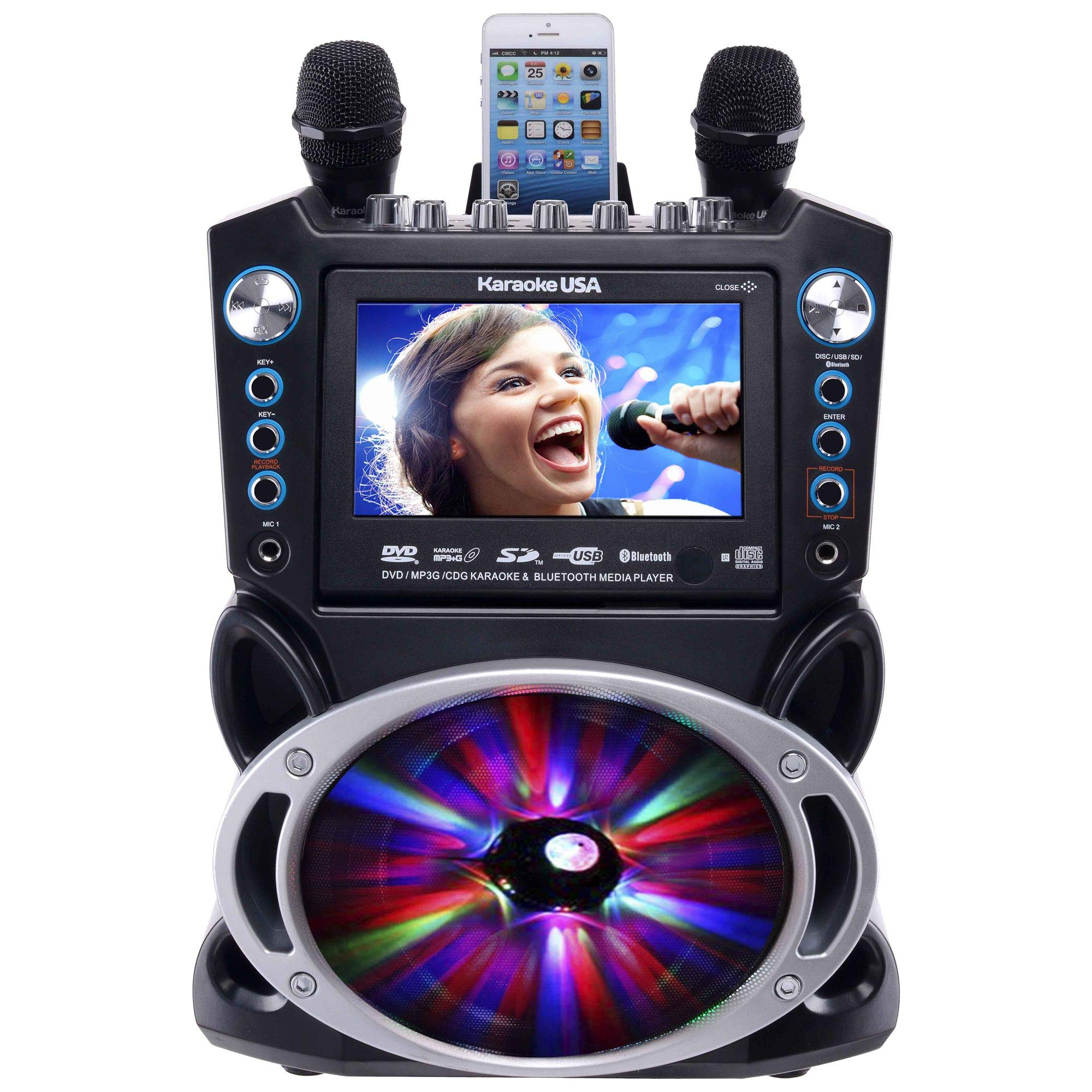 Karaoke USA GF842 Machine Bluetooth
