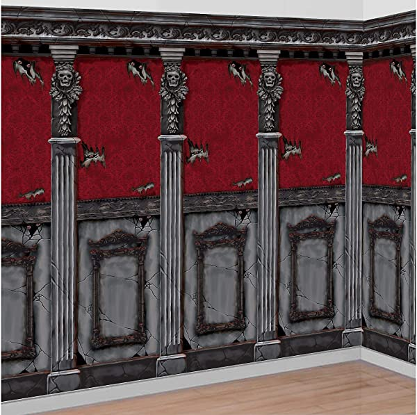 AMSCAN Gotham Mansion Room Rolls Halloween Decorations For Indoor And Outdoor Use 4 H X 20 L