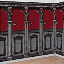 AMSCAN Gotham Mansion Room Rolls Halloween Decorations, For Indoor and Outdoor Use, 4' H x 20' L