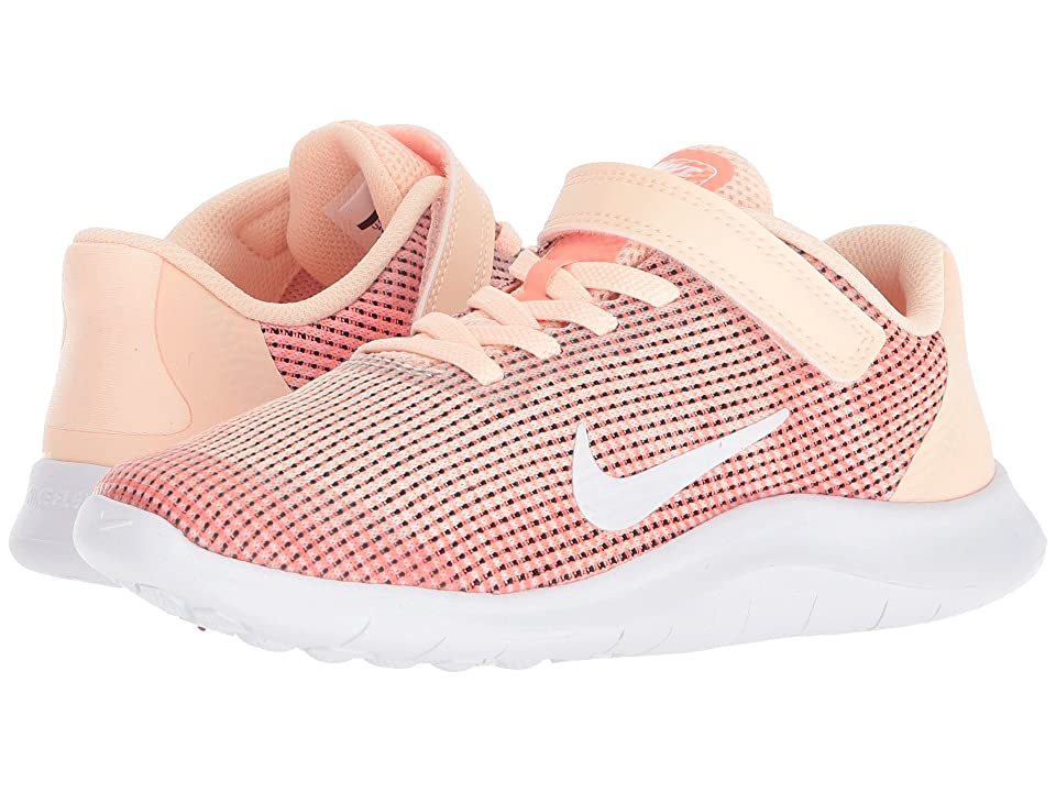 Nike Kids Flex Run 2018 (Little Kid) (Crimson Tint/White/Crimson Pulse) Girls Shoes