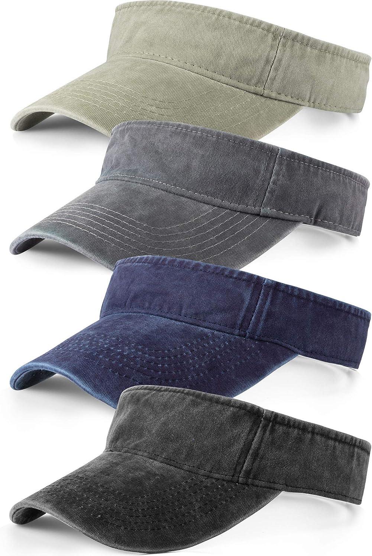 4 Pieces Sun Visor Sun Sports Adjustable Visor Sport Wear Athletic Visor Hat for Men Women
