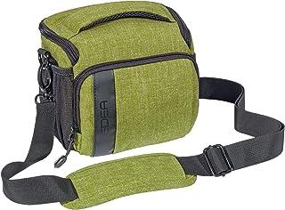 Pedea SLR Fashion Funda para Cámara Nikon D750 D3100 D5100/Canon EOS 1200d/Pentax K de 3II/Sony DSC-RX10 SLT-A99V/Olympus E-M1OM-D (tamaño L) Color Verde con Protector de Pantalla