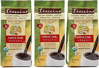 Teeccino Chicory Coffee Alternative – Maya Chai – Ground Herbal Coffee That's Prebiotic, Caffeine Free & Acid Free, Medium...