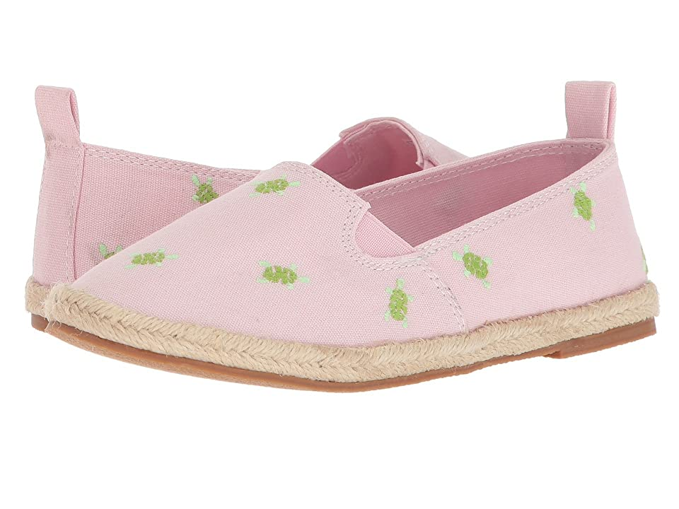 Polo Ralph Lauren Kids Beakon (Little Kid) (Light Pink Canvas/Turtles) Girl