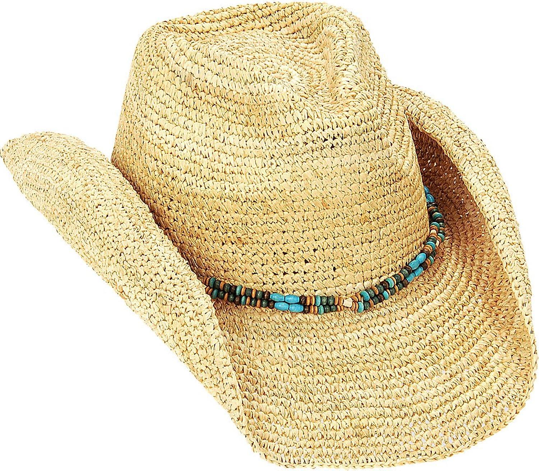 Sun 'N' Sand Natural Raffia Finely Crocheted