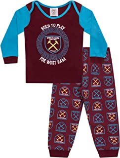 West Ham United Fc Official Soccer Gift Boys Kids Baby Pajamas