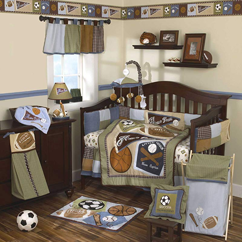 CoCaLo 8 Piece Crib Set Sports Fan Discontinued By Manufacturer