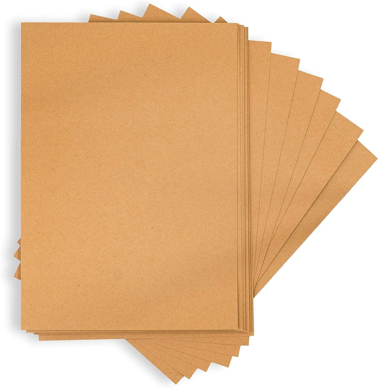 cartes de menu Papier cartonn/é naturel pour Scrapbooking etc MCs Goods Lots de 50//75 feuilles de papier kraft A4 - /Épaisseur du carton/: 170//270/g /étiquettes cadeau