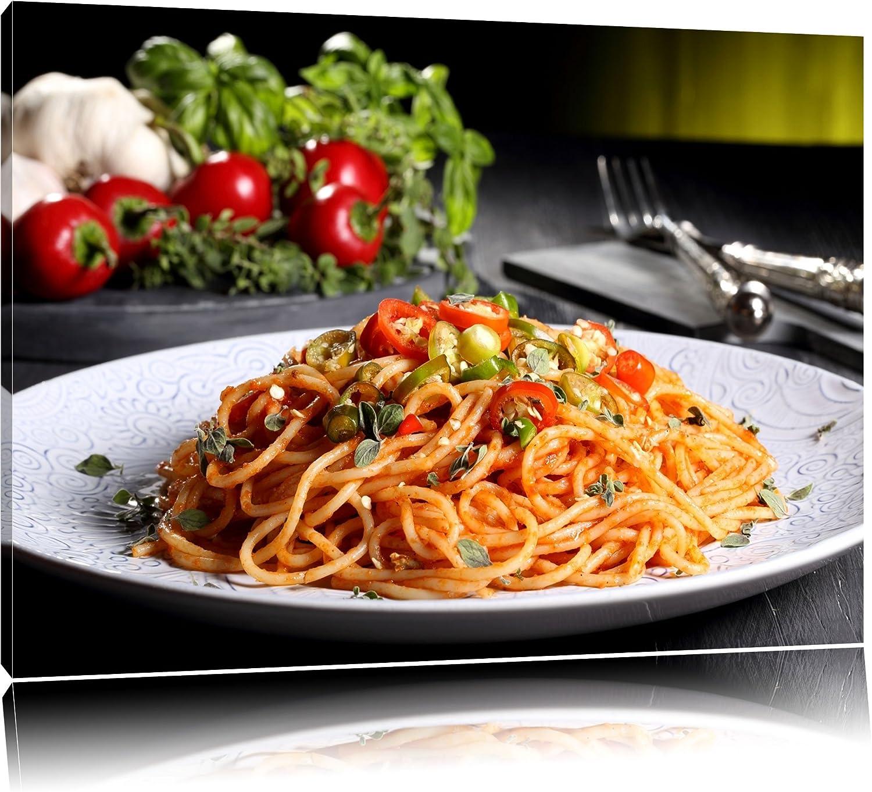 Leckere Spaghetti Spaghetti Spaghetti Italia Format  120x80 auf Leinwand, XXL riesige Bilder fertig gerahmt mit Keilrahmen, Kunstdruck auf Wandbild mit Rahmen, günstiger als Gemälde oder Ölbild, kein Poster oder Plakat B00Q6YY956 8f1aee