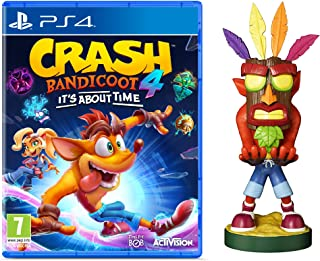 Crash Bandicoot 4 - It's About Time + Crash Aku Aku Cable Guy - Bundle [Esclusiva Amazon] - PlayStation 4
