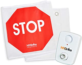 "NYOrtho Door Guard Stop Sign Banner | Stop Sign Strip + Alarm | Size: 48"" W"