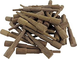 Miller Dowel W12D11-100 Pack of 100 Each 1X Stepped Walnut Dowels 3/8 Inch Diameter for Stock up to 1 Inch Thick