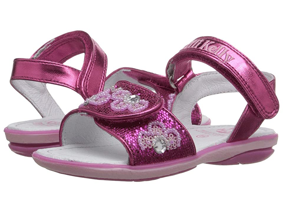 Lelli Kelly Kids Fiore Sandal (Toddler/Little Kid) (Fuchsia Glitter) Girls Shoes