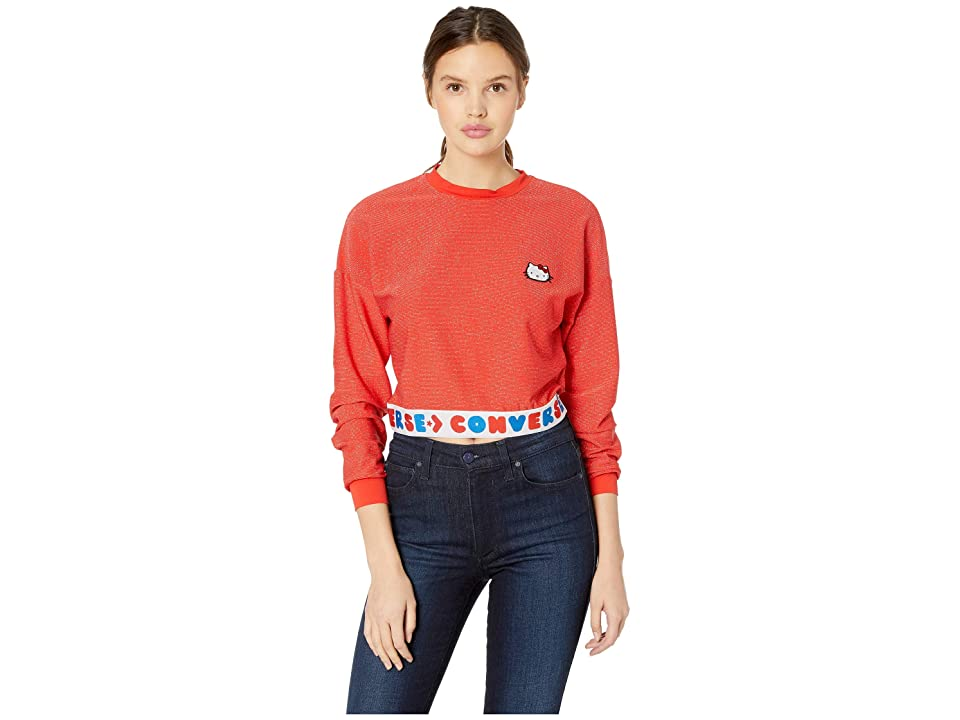 Converse Converse x Hello Kitty Long Sleeve Sport Tee (Fiery Red) Women