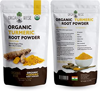 Sponsored Ad - 1 lb Organic Turmeric Root Powder by Organic Wise, Minimum 6.9% Curcumin Content.Packed in the USA, From In...