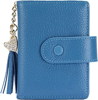 Women's Mini Credit Card Case Wallet with ID Window and Card Holder purse 9 Colors