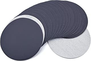 6 Inch (150mm) 600 Grit High Performance Waterproof Hook & Loop Sanding Discs Heavy Duty Silicon Carbide Round Flocking Sandpaper for Wet/Dry Sanding Grinder Polishing Accessories, 20-Pack