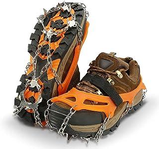 comprar comparacion IPSXP Crampones, 19 Dientes Tacos de tracción Nieve y Hielo Tracción para Invierno Deportes Montañismo Escalada Caminar Al...