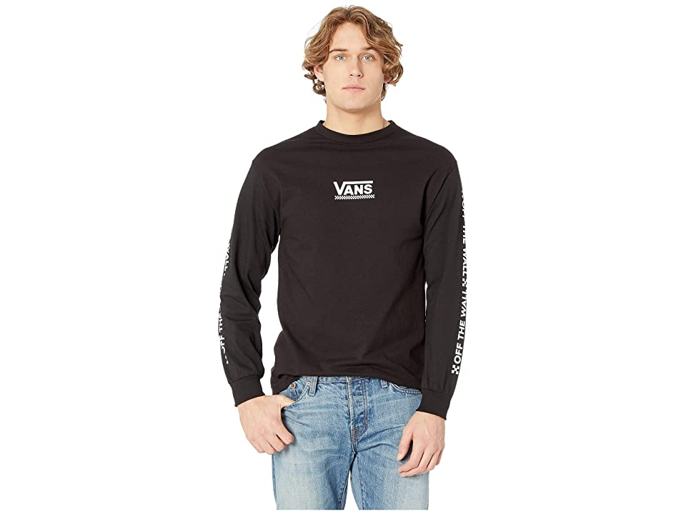 a4984d3d Vans Checkmate III Long Sleeve T-Shirt (Black) Men's Clothing