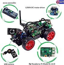 SunFounder Smart Video Car Kit Raspberry Pi DIY Robot Kit for Kids Adults Compatible with RPi 3 Model B+ B 2B (Pi Not Incl...