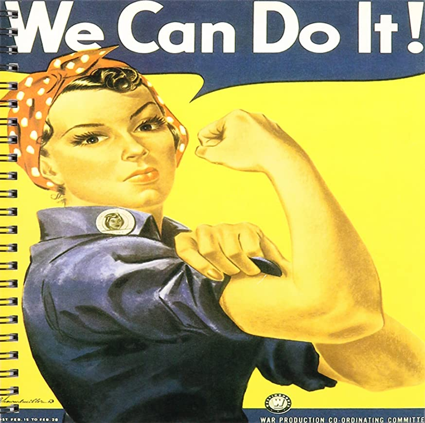 3dRose db_149446_1 Vintage We Can Do it War Production Committee Poster Drawing Book, 8 by 8-Inch