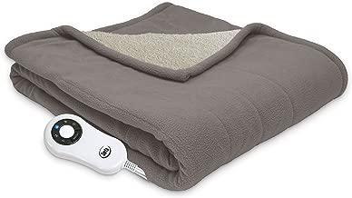 Serta | Reversible Sherpa/Fleece Heated Electric Throw Blanket, 50