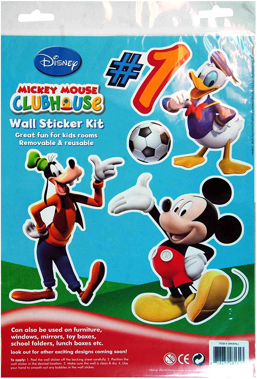 Mickey Mouse Clubhouse Wall Stickers  Kids Sticker Sheet
