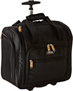 Best Cabin Luggage Collection - Small Lightweight 16 Inch Under Seat Bag - Garment Briefcase for Men & Women - Carry On Suitcase with 2- Rolling Spinner Wheels (Black) Reviews