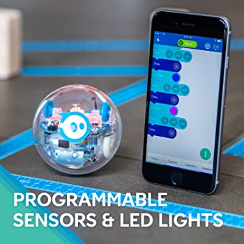 Sphero SPRK+: App-Enabled Robot Ball with Programmable Sensors + LED Lights - STEM Educational Toy for Kids - Learn J...