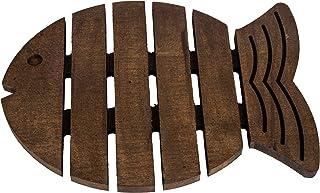 Antideslizante Resistente al calor Salvamanteles de madera en forma de pez, Vintage, Rústico, Decorativo, para encimera de cocina o mesa de comedor