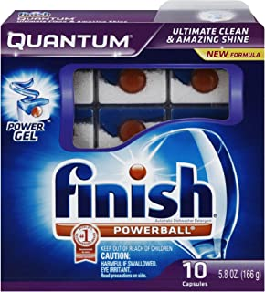 Finish Quantum Dishwasher Detergent, 10-Count (Pack of 2)