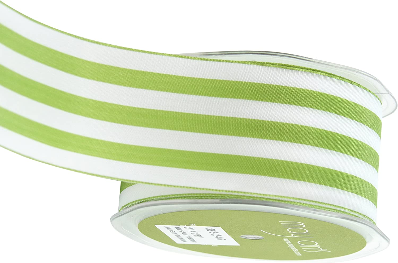 Double Face Satin Ribbon Ribbon Ribbon Striped 2 X25yd-Celery & Weiß B0064YOLMO | Niedriger Preis und gute Qualität  a7122e