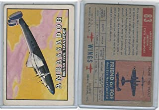 1952 Topps, Wings, 83 Ambassador, British