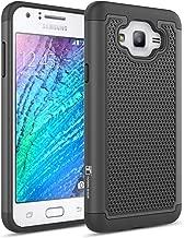 Galaxy J7 Case, Galaxy J700 Case, TownShop Black Heavy Duty Dual Layer Armored Hybrid Case Cover for Samsung Galaxy J7/ J700 (2015 Release)