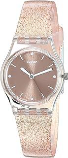ساعت سیلیکونی زنانه Swatch 1804 Time Quartz ، صورتی ، 13 ساعته گاه به گاه (مدل: LK354D)