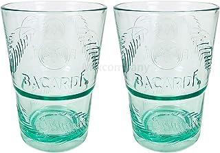 Bacardi Rum Glas Gläser Set - 2X Gläser Mojito Longdrinkglas Cuba Libre Cocktail Bar