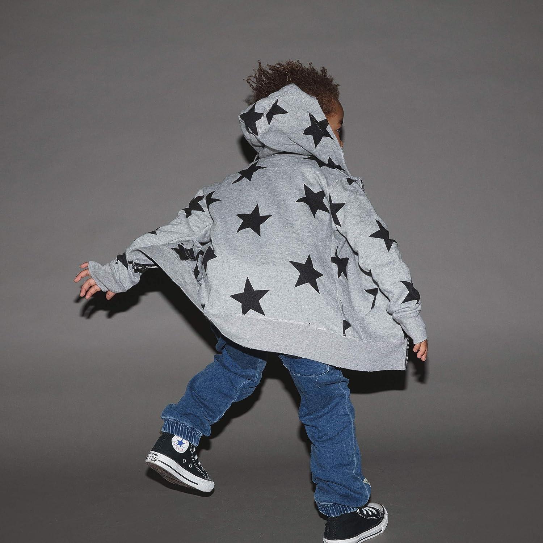 NUNUNU Zip Hoodie, Unisex Cotton Zipper Warm Top Layer for Girls and Boys 0-14 Years
