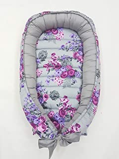 BabyCo Babynest 100% Cotton Travel Bed Baby Lunger Baby Positoner Baby Sleep Nest Sleep Bed Co Sleeper Removable Mattress Baby Nest Deluxe