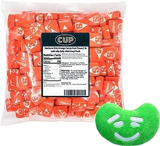 Starburst Only Orange Candy Fruit Chews 2 lb with Jelly Belly Mini Emoji Plush