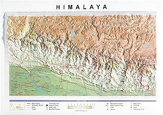 Mapa en relieve del Himalaya: Escala gráfica