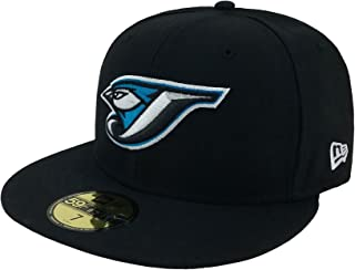 New Era 59Fifty Hat MLB Toronto Blue Jays Black Team Fitted Cap