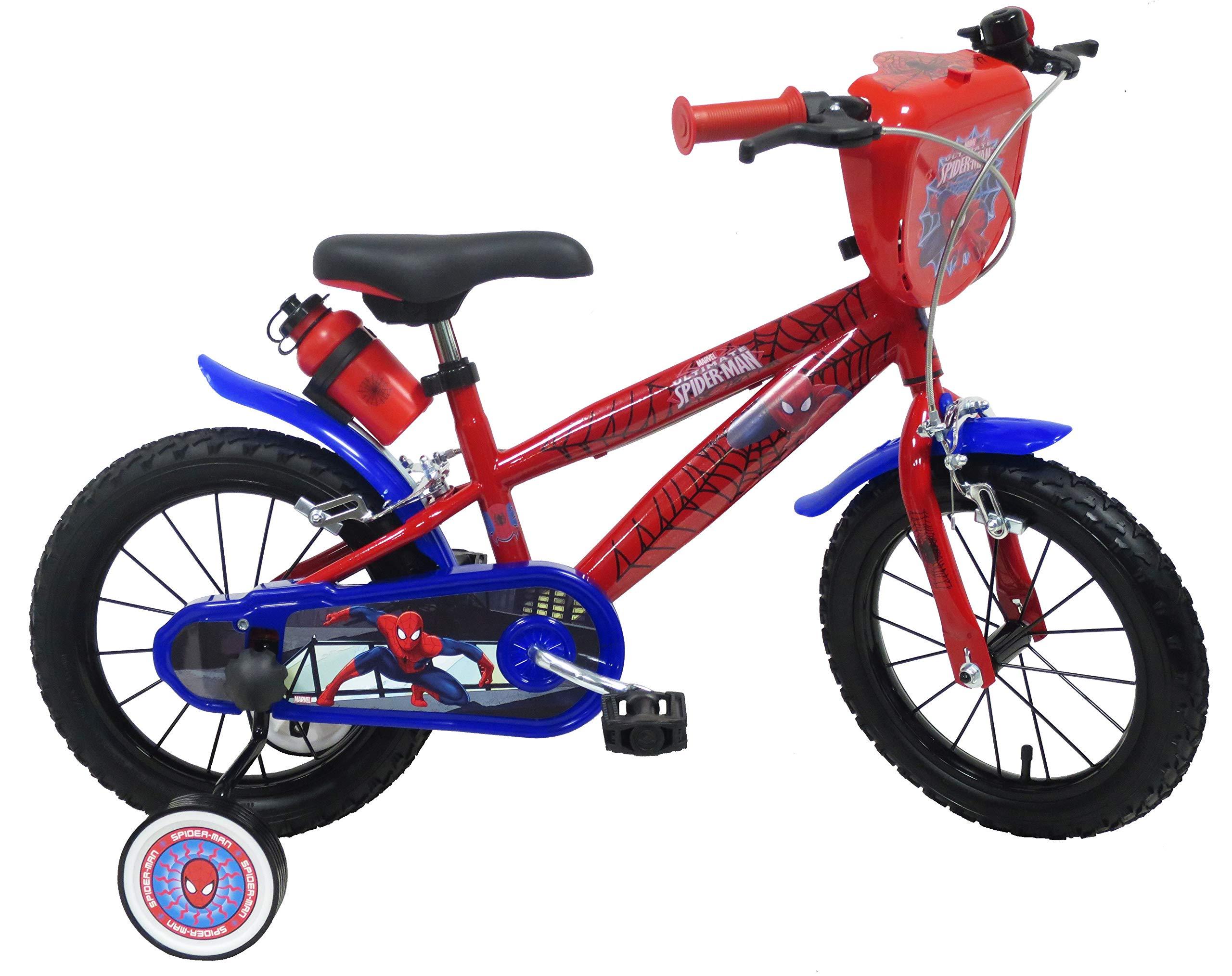 Bicicleta para niño Spiderman 14, 4 / 6 años: Amazon.es: Deportes ...