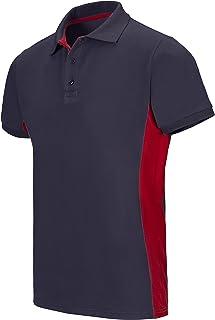 47354ef41bb VELILLA - Polo Bicolor Manga Corta 180 gr/m2 105504 Hombre Azul Navy-Rojo