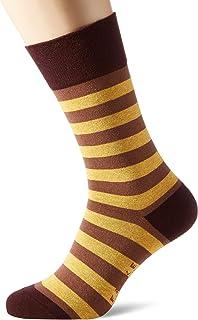 FALKE Socken Sensitive Mapped Line Baumwolle Herren grau blau viele weitere Farben verstärkte Herrensocken mit Muster atmungsaktiv gestreift weit für Diabetiker Komfortbund 1 Paar